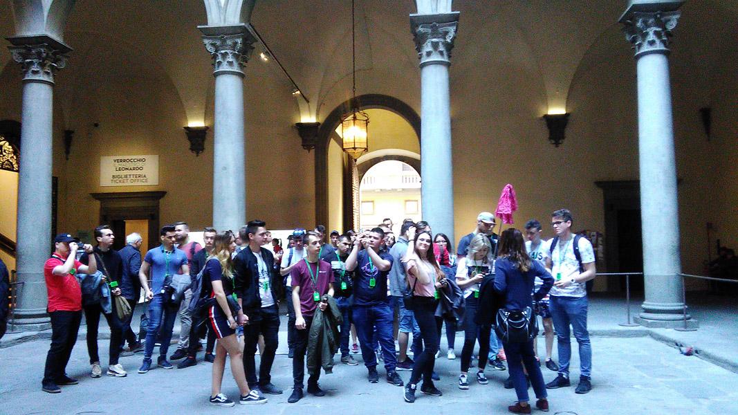 Erasmus+: grupa włoska nawycieczce wFlorencji
